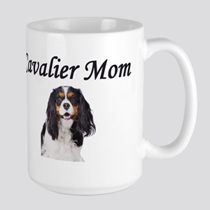 Cavalier Mom-Light Colors Large Mug
