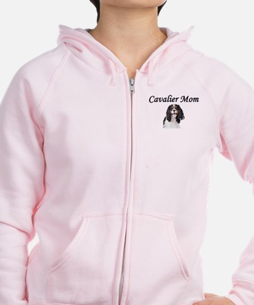 Cavalier Mom-Light Colors Zip Hoodie