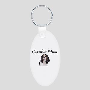 Cavalier Mom-Light Colors Aluminum Oval Keychain