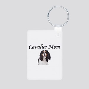 Cavalier Mom-Light Colors Aluminum Photo Keychain