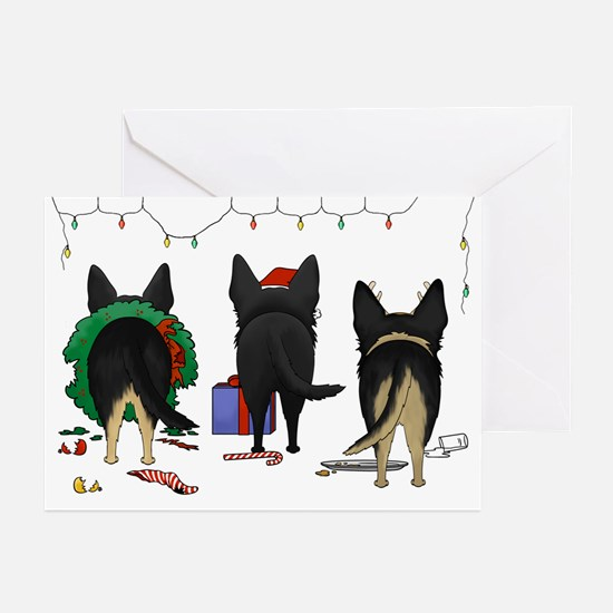 Shepherd Butt Xmas Greeting Cards (Pk of 10)