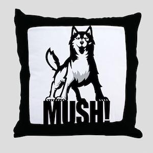 Husky Mush Throw Pillow