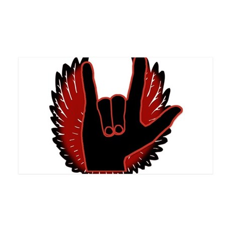 Love Angel Black Feather 38.5 x 24.5 Wall Peel