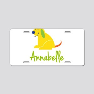 Annabelle Loves Puppies Aluminum License Plate