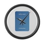 Perfect Speed Is Being There Large Wall Clock