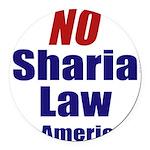 No Sharia Round Car Magnet