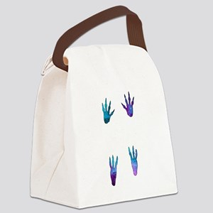 Galactic Guinea Pig Paw Prints Canvas Lunch Bag