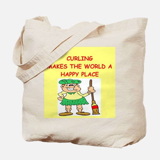 curling gifts t-shirts Tote Bag
