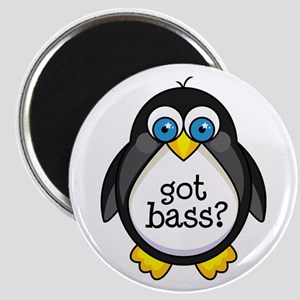 Bass Music Penguin Magnet