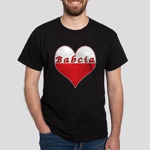 Babcia Polish Heart Dark T-Shirt