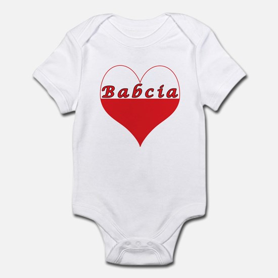 Babcia Polish Heart Infant Bodysuit