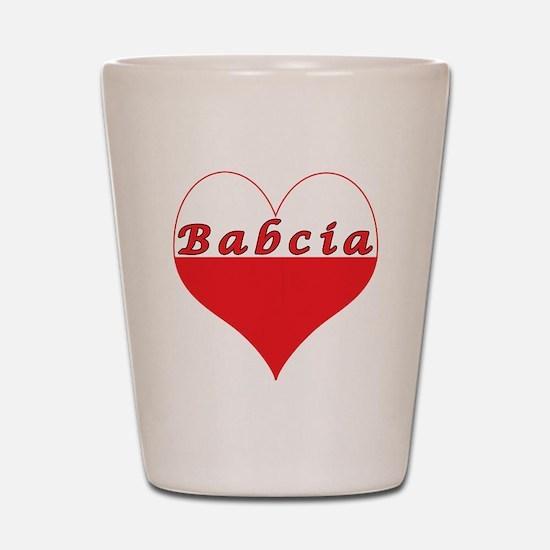 Babcia Polish Heart Shot Glass
