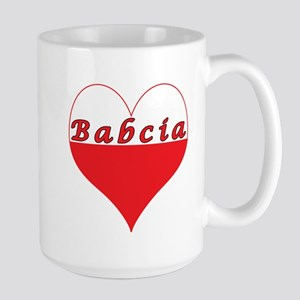 Babcia Polish Heart Large Mug
