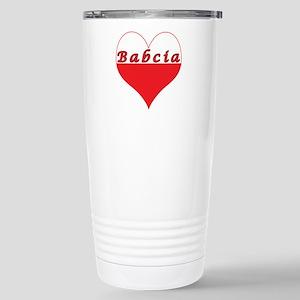 Babcia Polish Heart Stainless Steel Travel Mug