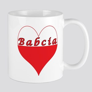 Babcia Polish Heart Mug
