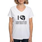 I Fist Revolution Women's V-Neck T-Shirt