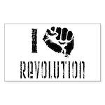 I Fist Revolution Sticker (Rectangle)