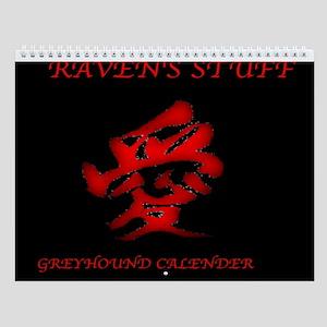 RAVEN'S STUFF GREYHOUND Custom Wall Calendar
