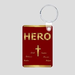 Hero Aluminum Keychain