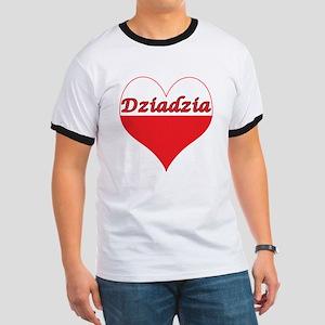 Dziadzia Polish Heart Ringer T