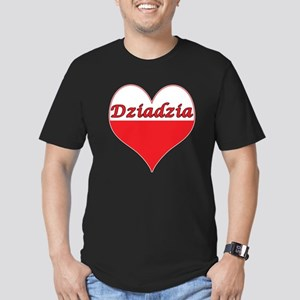Dziadzia Polish Heart Men's Fitted T-Shirt (dark)