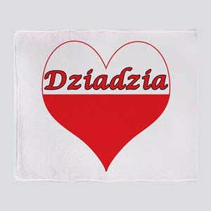 Dziadzia Polish Heart Throw Blanket