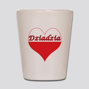 Dziadzia Polish Heart Shot Glass