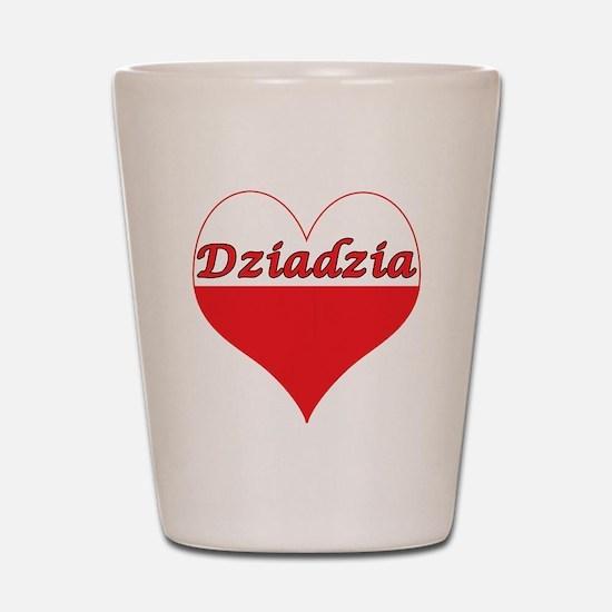 Dziadzia Polish Heart Shot Glass