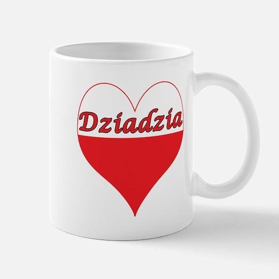 Dziadzia Polish Heart Mug