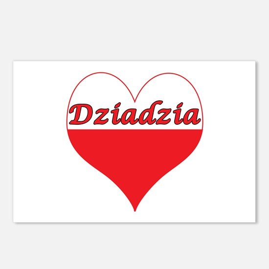 Dziadzia Polish Heart Postcards (Package of 8)