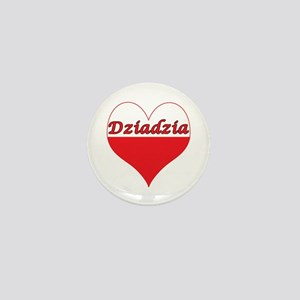 Dziadzia Polish Heart Mini Button