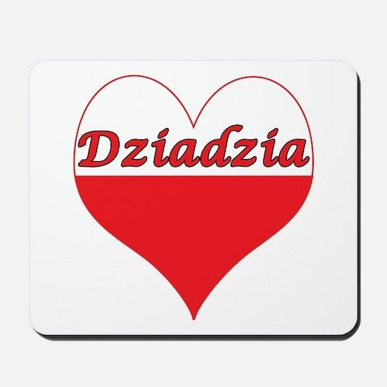 Dziadzia Polish Heart Mousepad