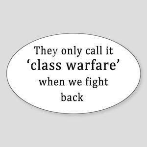 Class Warfare Sticker (Oval)