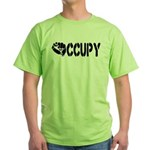 Occupy Wall Street Fist Green T-Shirt