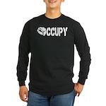 Occupy Wall Street Fist Long Sleeve Dark T-Shirt