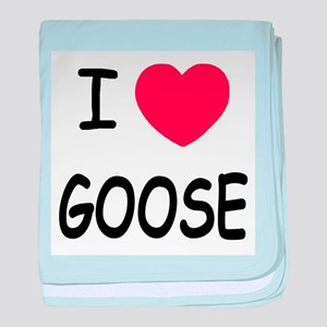 I heart goose baby blanket