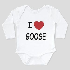 I heart goose Long Sleeve Infant Bodysuit