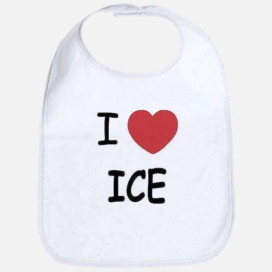I heart ice Bib