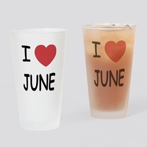I heart june Drinking Glass