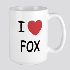 I heart fox Large Mug