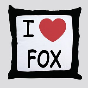 I heart fox Throw Pillow