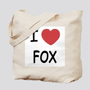 I heart fox Tote Bag
