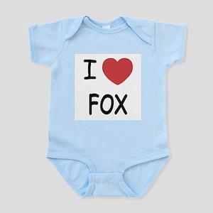 I heart fox Infant Bodysuit