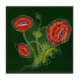 Art nouveau vintage Tile Coasters