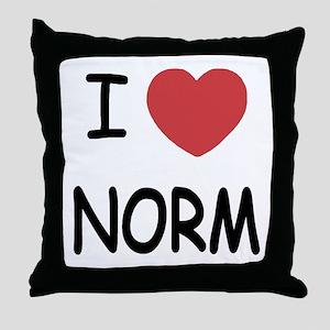 I heart norm Throw Pillow