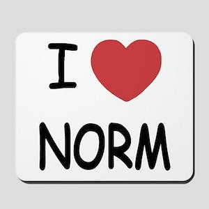 I heart norm Mousepad