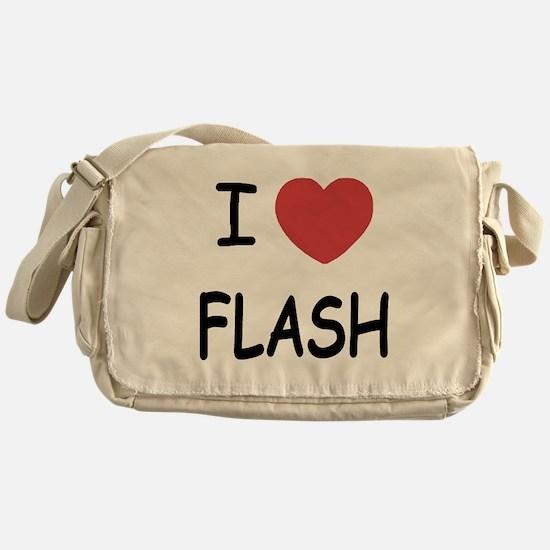 I heart flash Messenger Bag