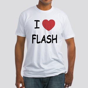 I heart flash Fitted T-Shirt