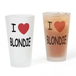 I heart blondie Drinking Glass