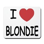 I heart blondie Mousepad
